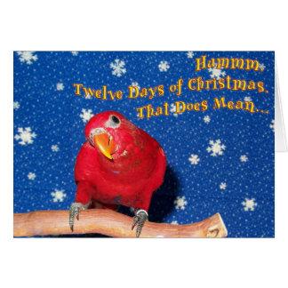 Cartão Brinquedos da mastigação do Natal