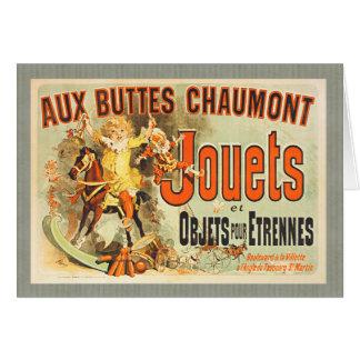 Cartão Brinquedos franceses do vintage dos amigos do