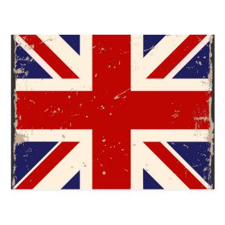 Cartão britânico da bandeira do vintage