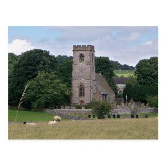 Cartão britânico da igreja do país
