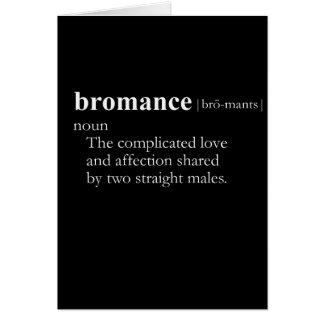 Cartão BROMANCE (definição)