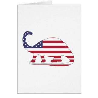 """Cartão Brontosaurus """"bandeira americana """""""