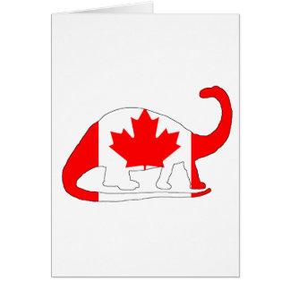 Cartão Brontosaurus Canadá