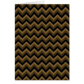 Cartão Brown escuro e teste padrão de ziguezague preto