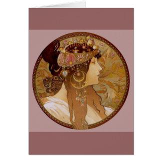 Cartão Brunette bizantino, 1897