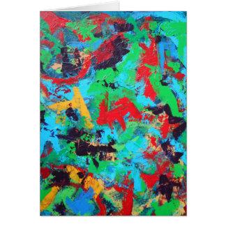 Cartão Brushstrokes abstratos pintados Respingo-Mão