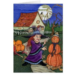 Cartão Bruxa da abóbora