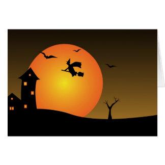 Cartão Bruxa da noite do Dia das Bruxas
