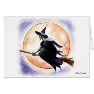 Cartão Bruxa do Dia das Bruxas