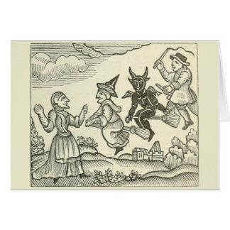 Cartão Bruxas e outro nota importada com citações