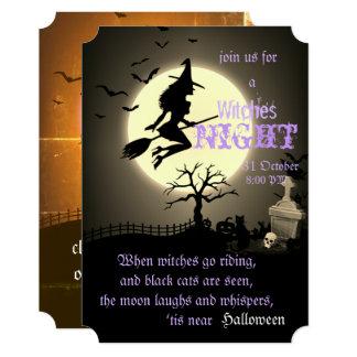 Cartão Bruxas noite, o Dia das Bruxas