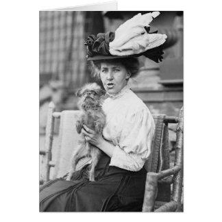 Cartão Bruxelas Griffon, 1900s adiantados