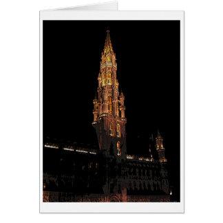 Cartão Bruxelas na noite
