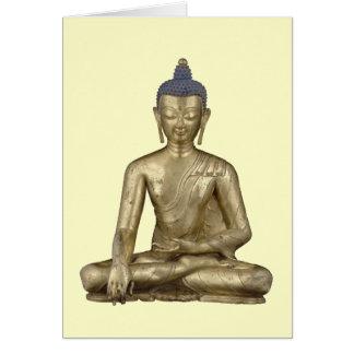 Cartão Buddha assentado