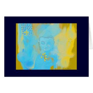 Cartão buddha azul