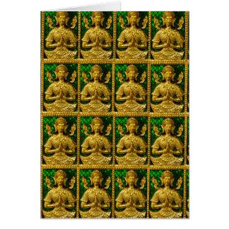 Cartão buddha de assento amigável