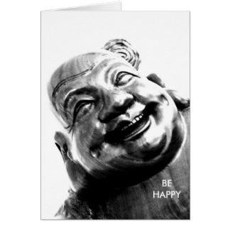 Cartão Buddha/de riso