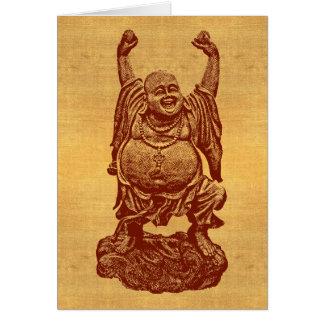 Cartão Buddha de riso + seu texto! (obscuridade -