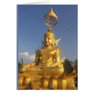 Cartão Buddha dourado em Wat Doi Saket, Chiang Mai