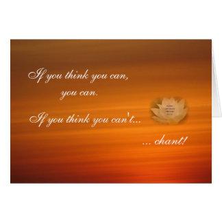 Cartão budista do lembrete Chanting do SGI