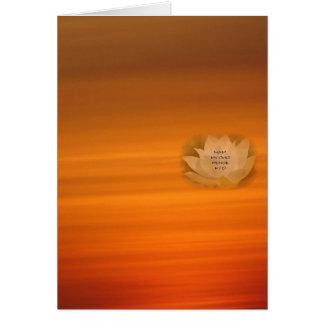 Cartão budista do SGI com Lotus & o Nam Myoho