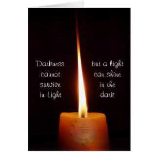 Cartão budista do SGI com vela de Lotus e NMRK