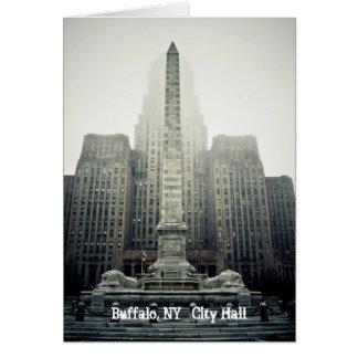 Cartão Búfalo, câmara municipal   de NY