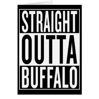 Cartão búfalo reto do outta