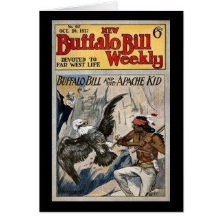 Cartão Buffalo Bill 1917 semanal - o miúdo de Apache