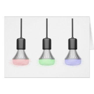 Cartão Bulbos do diodo emissor de luz com cores