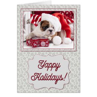 Cartão Buldogue Yappy do feriado