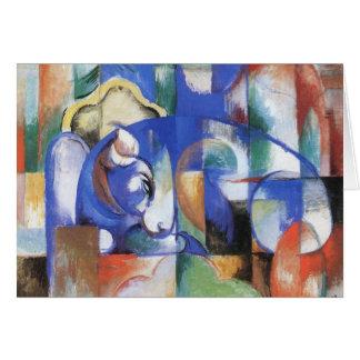 Cartão Bull de encontro por Franz Marc, arte do Cubism do