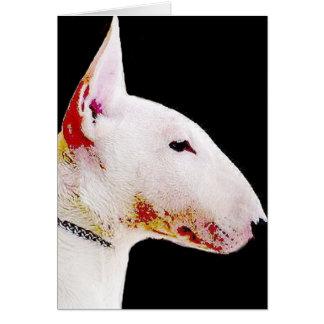Cartão Bull terrier