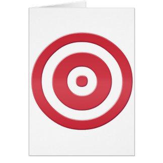 Cartão bullseye