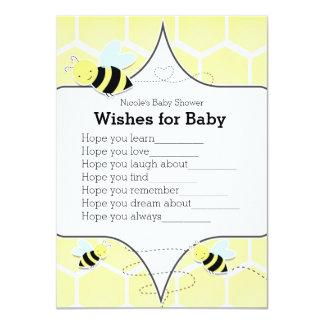 Cartão Bumble desejos amarelos da ABELHA para o jogo do