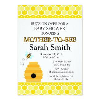 Cartão Bumble o chá de fraldas da abelha a abelha do mel