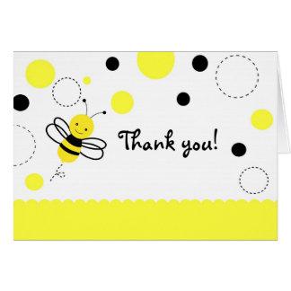 Cartão Bumble o obrigado dobrado aniversário da abelha