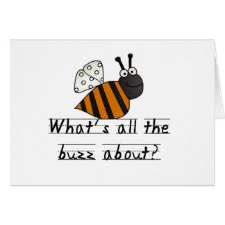 Cartão Bumble o zumbido da abelha