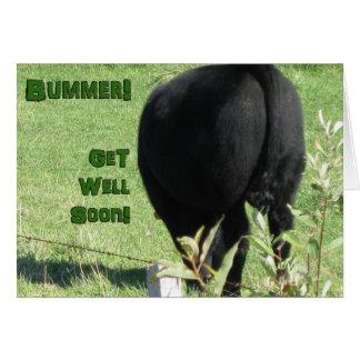 Cartão Bummer-Obtenha bem logo