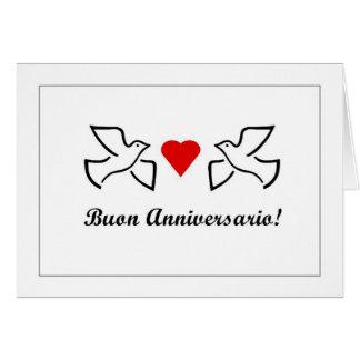 Cartão Buon Anniversario - aniversário feliz em Italiano