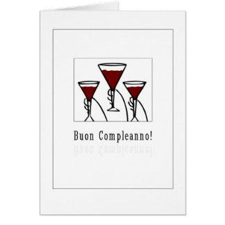 Cartão Buon Compleanno - feliz aniversario no italiano