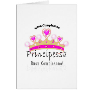 Cartão Buon Compleano Principessa