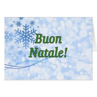 Cartão Buon Natale! Feliz Natal no gf italiano