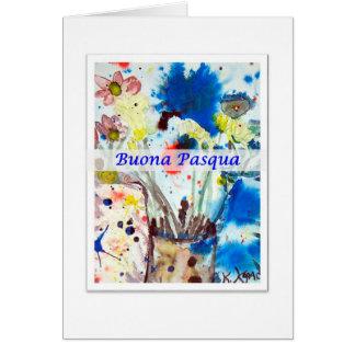 Cartão Buona Pasqua, páscoa de Italiano