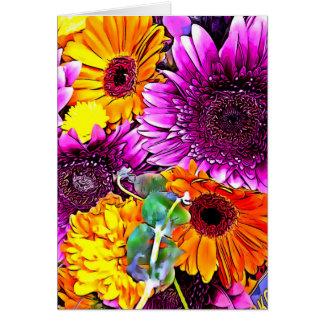 Cartão Buquê bonito da flor