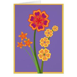 Cartão Buquê brilhante