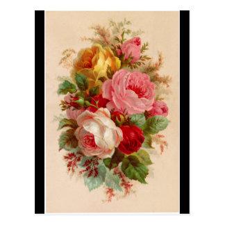 Cartão - buquê cor-de-rosa