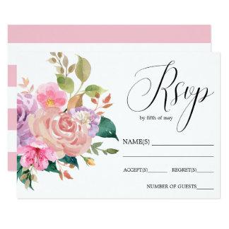Cartão Buquê cor-de-rosa delicado elegante que wedding