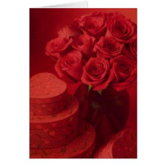 Cartão Buquê cor-de-rosa dos namorados