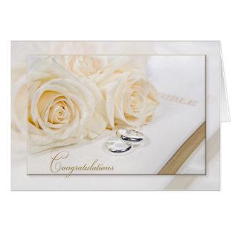 Cartão Buquê cor-de-rosa Wedding